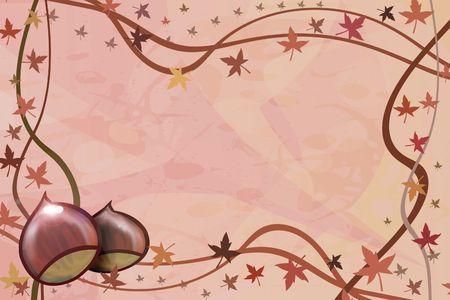 made illustration of an autumnal background illustration