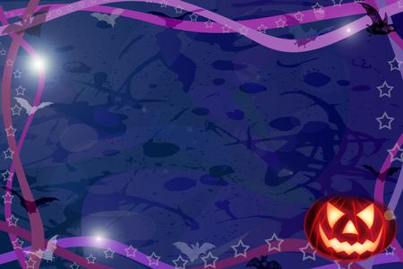 Computer made illustration of an Halloween dark background illustration