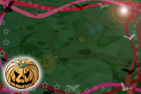 Computer made illustration of an Halloween dark background Stock Illustration - 3499604