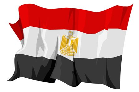 Computer generated illustration of the flag of Egypt Stock Illustration - 3515903