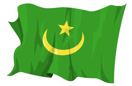 Computer generated illustration of the flag of Mauritania Stock Illustration - 3516108