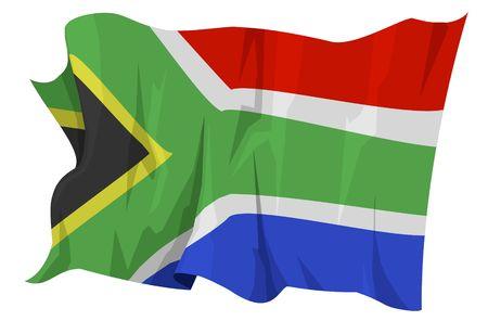 Computer gegenereerde afbeelding van de vlag van Zuid-Afrika Stockfoto