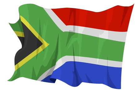 Computer generated illustration of the flag of South Africa Stock Illustration - 3517959