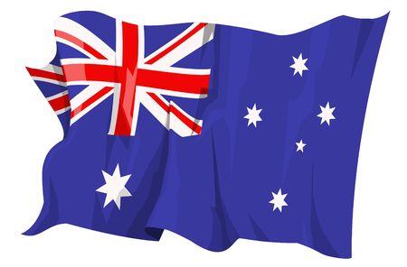 Computer gegenereerde afbeelding van de vlag van Australië