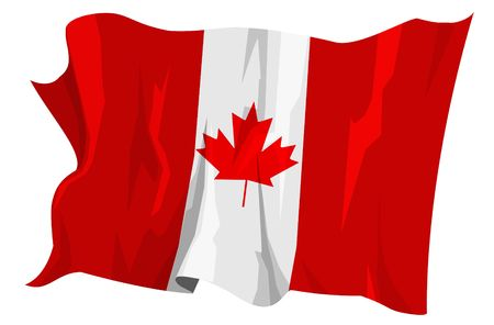 Computer generated illustration of the flag of Canada Stock Illustration - 3526705