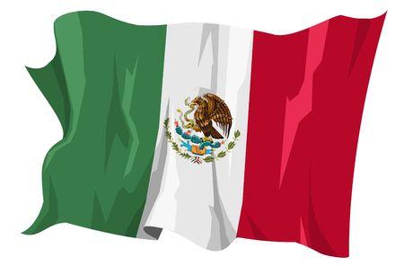 Computer gegenereerde afbeelding van de vlag van Mexico Stockfoto