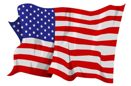 Computer generated illustration of the flag of United States Stock Illustration - 3526729