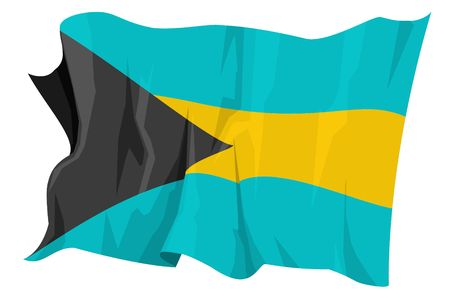 Computer generated illustration of the flag of Bahamas Stock Illustration - 3526702