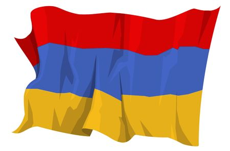 Computer generated illustration of the flag of Armenia Stock Illustration - 3526743