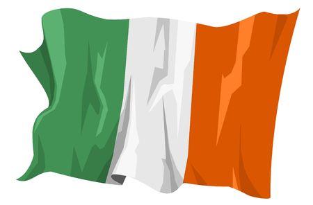 Computer generated illustration of the flag of Ireland illustration