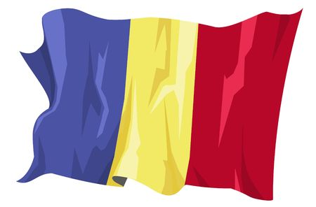 bucharest: Computer generated illustration of the flag of Romania Stock Photo
