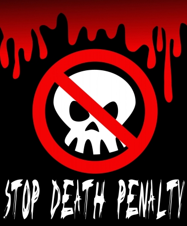 terrifying: Computer generated illustration: STOP DEATH PENALTY