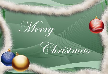 Christmas greeting card with text  photo