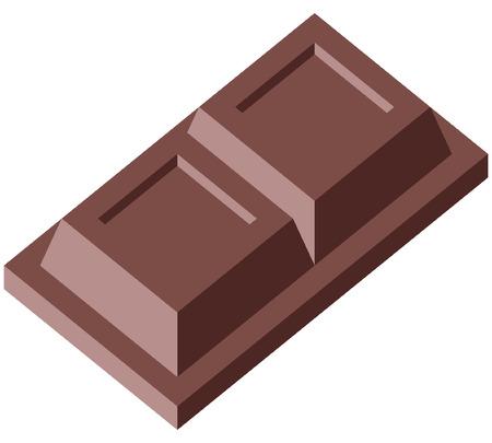 Chocolade - Vector illustration - Eenvoudig te bewerken Stock Illustratie