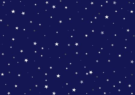firmament: Illustration of a night background - Dark blue sky with many stars of different dimensions Stock Photo
