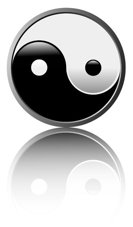 eastern philosophy: Vector illustration of the ancient symbol of Tao on white background - Easy to edit