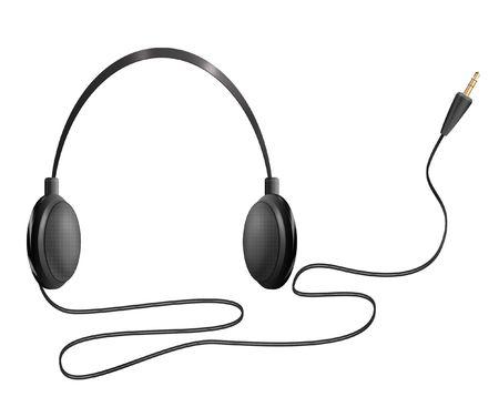 Computer-generated illustration: realistic headphones. Isolated object on white background illustration