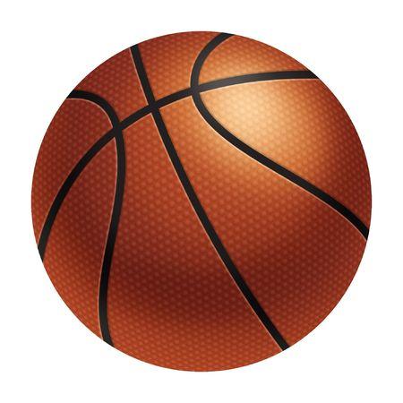 Computer gegenereerde afbeelding: realistische basketbal Stockfoto