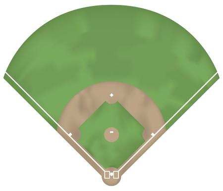 Illustratie van een honkbal bodem. Boven weergave