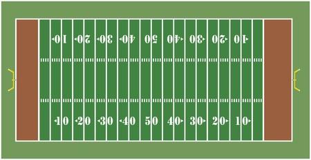 Illustratie van een Amerikaanse voetbal veld - weergave van bovenaf  Stockfoto