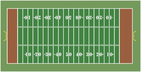 campo di calcio: Illustration of an American football field - View from above