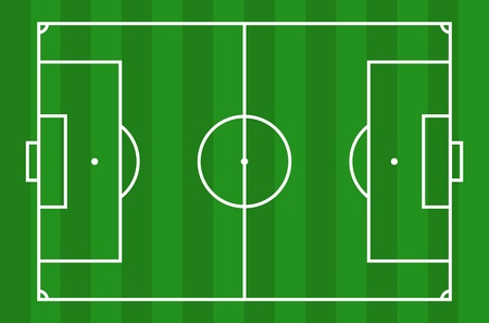football pitch: Soccer field - View from above