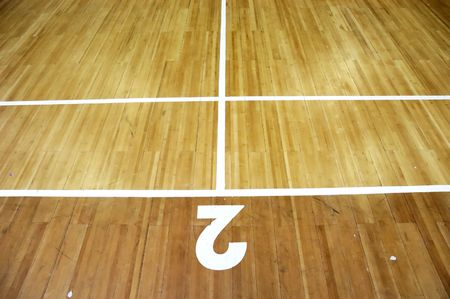 Badminton Court number two. Stock Photo