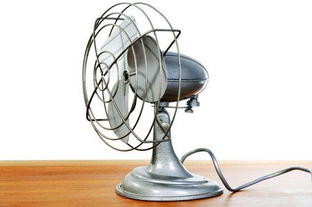 A vintage metal fan.