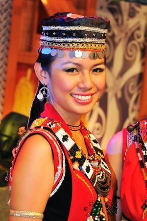 Kuching, Malaysia - June 14, 2008 - The Bidayuh tribe of Sarawak during Malaysia Gawai Dayak Open House celebration in Kuching.