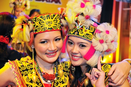 Kuching, Malaysia - June 14, 2008 - The native beauties of Sarawak during Malaysia Gawai Dayak Open House celebration in Kuching.