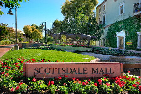 scottsdale: Scottdale Mall in downtown Scottsdale Arizona