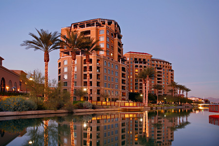waterfronts: Scottsdale Waterfront in Scottsdale Arizona.