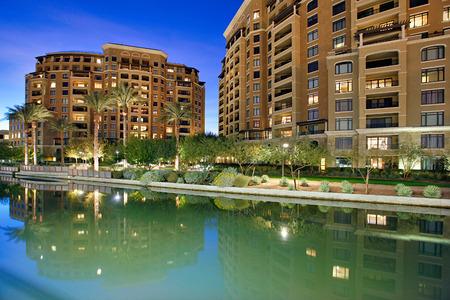 Waterkant van Scottsdale in Scottsdale Arizona.