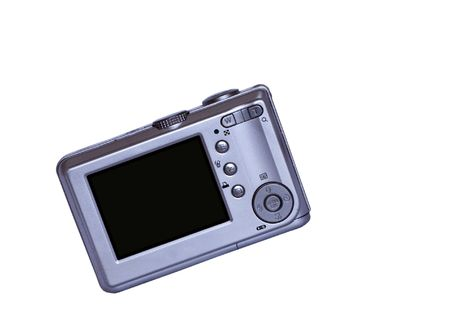 Digital compact camera with LCD display.  Stock Photo