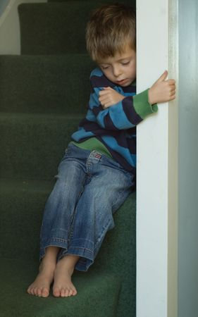 Impression  of a sad neglected child.  Stock Photo