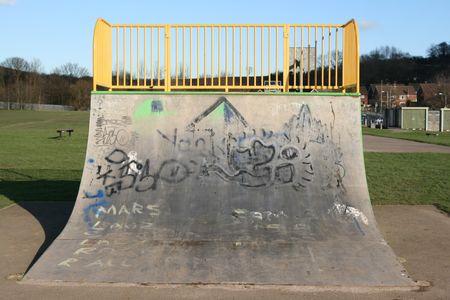 skateboarding ramp Stock Photo