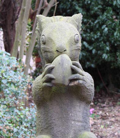squirrel statue photo