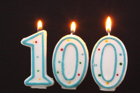 Birthday candle 100
