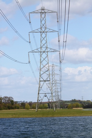 eyesore: Electricity pylons in the English countryside