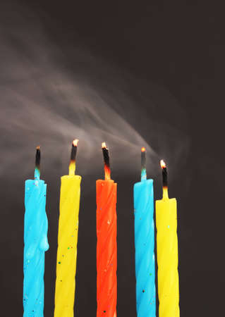 unlit: unlit candles with smoke