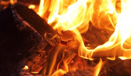 Bonfire and flames photo