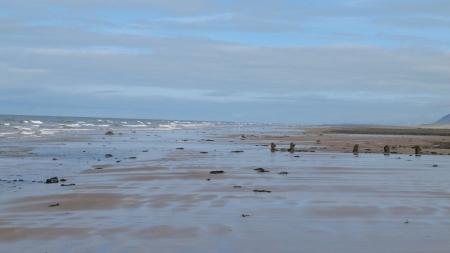 Barrow in Furness beach Cumbria UK