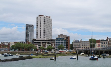 portsmouth: Portsmouth harbour Stock Photo
