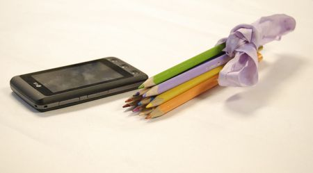 Phone and Pencils Stock Photo - 6402980