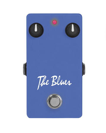 The Blues guitar effect pedal on white Imagens
