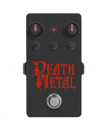 guitar effect pedal on white - Death Metal