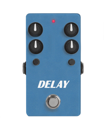 delay: guitar effect pedal on white - Delay