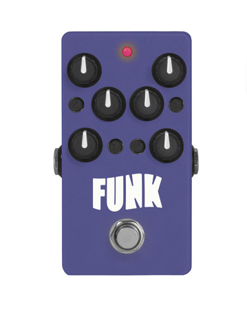 guitar effect pedal on white - Funk