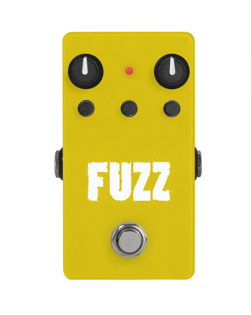guitar effect pedal on white - fuzz
