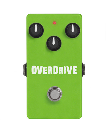 guitar effect pedal on white - Overdrive Imagens